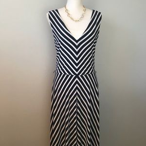 Lauren by Ralph Lauren Nautical Midi Dress
